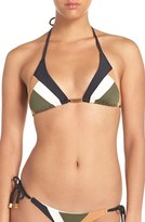 Vix Paula Hermanny Women's 'Military Patch' Triangle Bikini Top