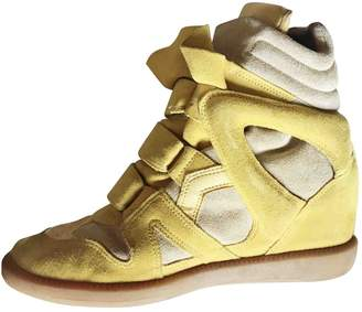 Isabel Marant Beckett Yellow Suede Trainers