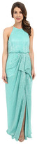 Badgley Mischka Draped Pleated Sequin