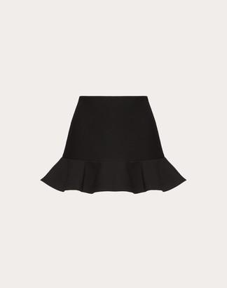 Valentino Crepe Couture Skirt Women Black 40