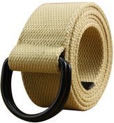Sitong Unisex D-shaped double loop buckle canvas belt