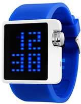 MASTOP Boys Girl LED Watch Waterproof Blue Rubber Band Backlight Date Digital Sport Wrist Watch