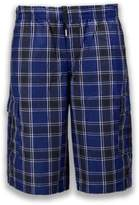 Trending Apparel NEW Men Plaid Cargo Shorts Elastic Waist BIG & Tall S-5XL Drawstrings 5 Colors (4XL, )