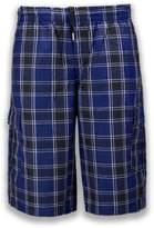 Trending Apparel NEW Men Plaid Cargo Shorts Elastic Waist BIG & Tall S-5XL Drawstrings 5 Colors (L, )