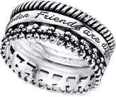 Unwritten Sterling Silver Friends Ring