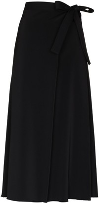 Rosetta Getty Tie-Waist Midi Wrap Skirt