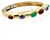 David Webb 18k Yellow Gold and Platinum Ruby, Emerald & Sapphire Vintage Bracelet