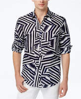 INC International Concepts Men's Shattered Abstract-Print Shirt, Created for Macy's
