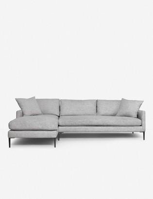 Lulu & Georgia Allisen Left-Facing Sectional Sofa, Light Gray
