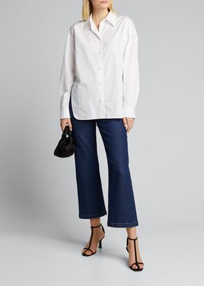 Vince Convertible Button-Down Cotton Shirt