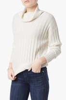7 For All Mankind Oversize Cashmere Blend Swater In White Ice