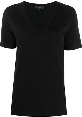 Theory V-neck cotton T-shirt