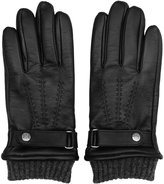 Reiss Reiss Henley - Dents Touchscreen Leather Gloves In Black