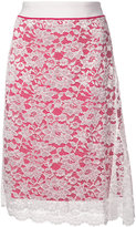 Paco Rabanne lace detail skirt - women - Nylon/Polyester/Viscose - 36