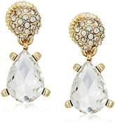 Badgley Mischka Crystal Pear Drop Earrings
