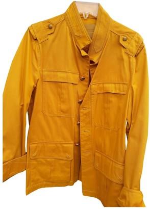Bally Yellow Cotton Jackets
