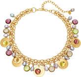 Loulou de la Falaise Short Sequin 24K Gold-Plated Crystal Necklace