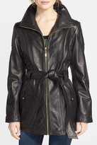 Ellen Tracy Genuine Leather Trench Jacket (Petite)