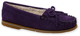 Deep Purple Leather Moccasins