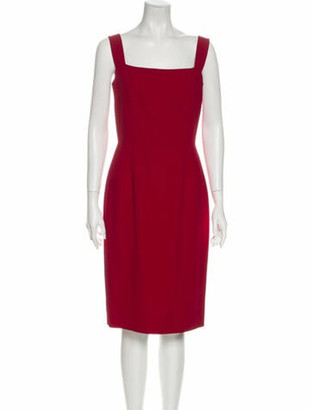 Dolce & Gabbana Square Neckline Mini Dress Red