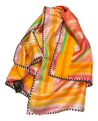 Versace Orange Silk Scarves