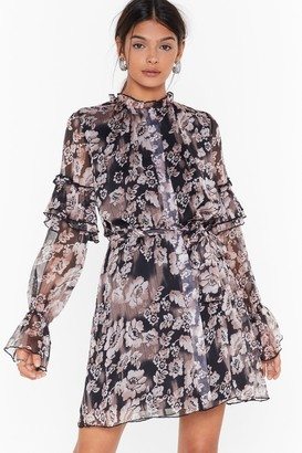 Nasty Gal Womens We've Grow Regrets Floral Mini Dress - Black