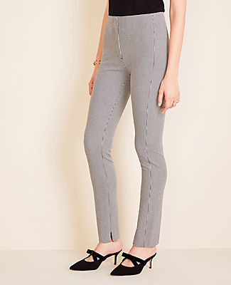 Ann Taylor The Petite Audrey Pant in Houndstooth Bi-Stretch