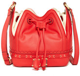 Isabella Fiore Lotus Leather Drawstring Bag