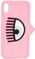 Chiara Ferragni Eye print iPhone XS case