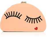 Milly Eyelash Half Moon Clutch