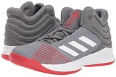 adidas Kids Kids Pro Spark Basketball Wide (Little Kid/Big Kid) (Grey/White/Red) Kid's Shoes