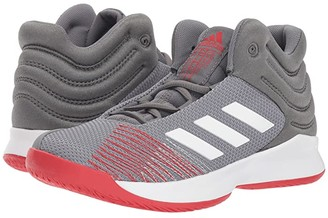 adidas Kids Pro Spark Basketball Wide (Little Kid/Big Kid) (Grey/White/Red) Kid's Shoes