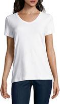 ST. JOHN'S BAY St. John's Bay Short Sleeve V Neck T-Shirt-Womens