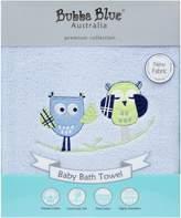 Bubba Blue Baby Owl Blue Bath Towel