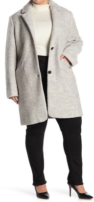 Andrew Marc Paige Boucle Wool Blend Coat (Plus Size)