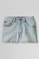 Classic Girls Denim Shorts-White
