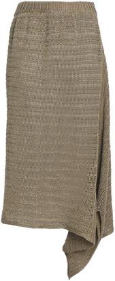 Stella McCartney Asymmetric Open-knit Linen Skirt