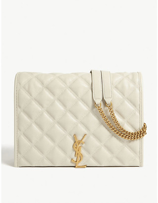 Saint Laurent Becky quilted leather small shoulder bag