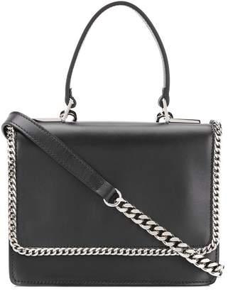 Casadei curb-chain square shoulder bag