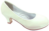 Pierre Dumas Ivory Pearl Kara Dress Shoe - Kids