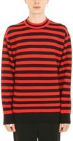 Alexander Wang Stripeded Wool Black Red Pullover