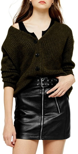 Topshop Button Front Cardigan