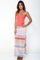 Goddis Reece Maxi Skirt In Bittersweet