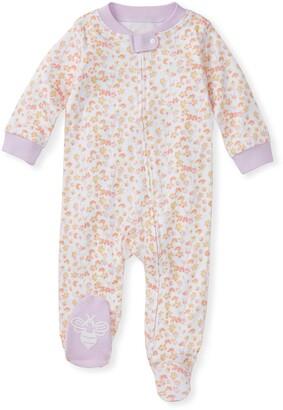 Burt's Bees Petal Rain Organic Baby Zip Front Loose Fit Footed Pajamas