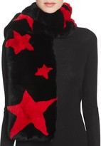 Jocelyn Star Rabbit Fur Stole Scarf
