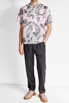 Oamc Printed Linen and Cotton Shirt
