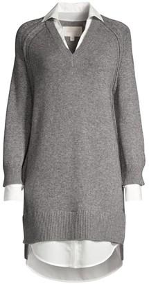 Brochu Walker V-Looker Layered Sweater Dress