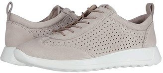 Ecco Flexure Runner Perf Sneaker (Grey Rose Cow Nubuck) Women's Shoes