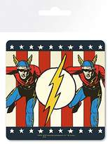 1art1® Flash Coaster - Vintage, DC Comics (4 x 4 inches)