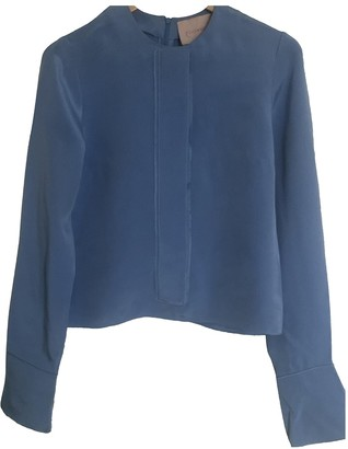 Roksanda Blue Silk Top for Women